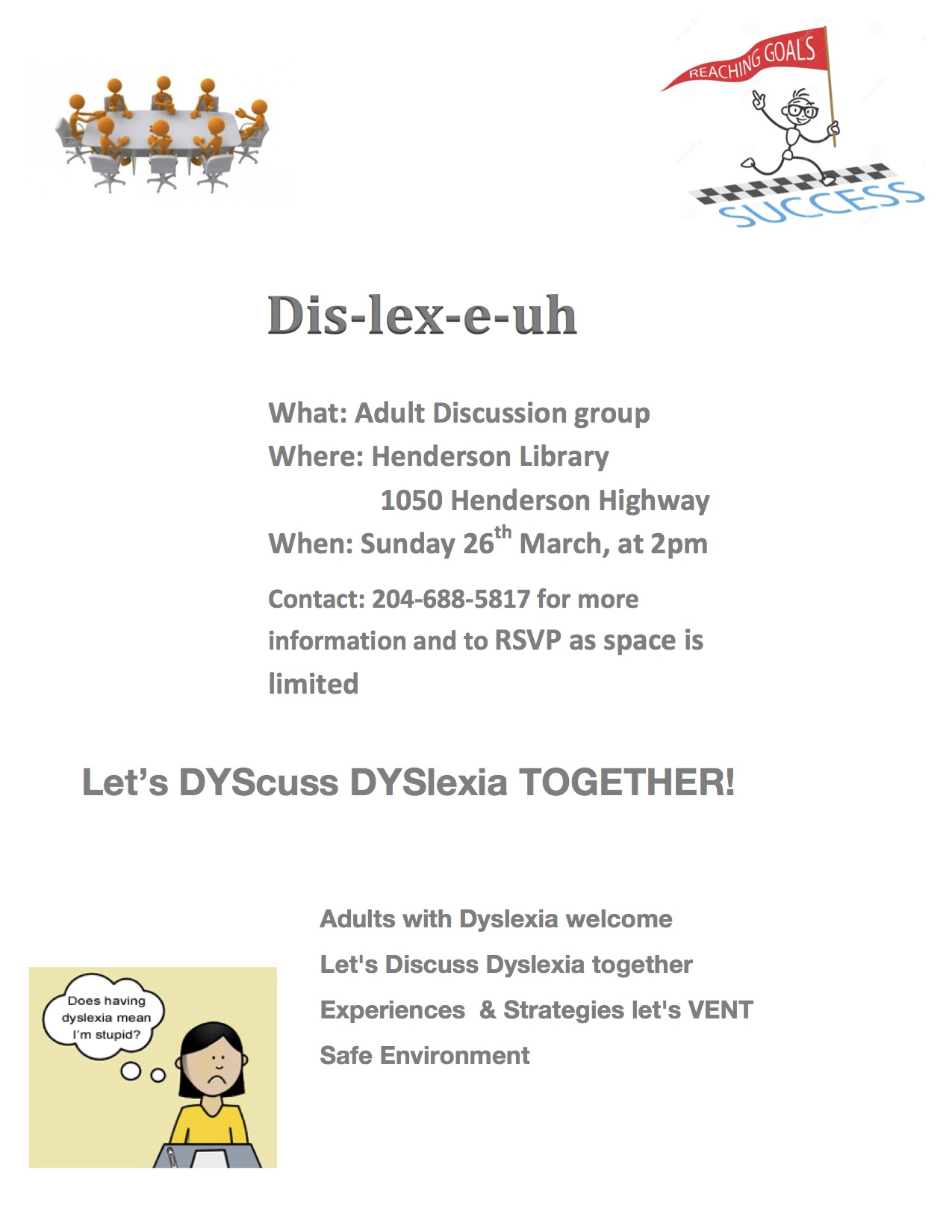 Adult Dyslexic Discussion Group